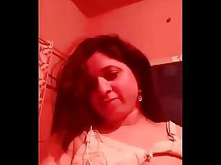 Horny punjabi booby bhabhi selfie in redroom with dirty Hindi audio